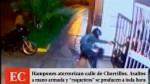 Chorrillos: hampones asaltan a mano armada a toda ...