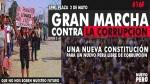 Marcha contra la corrupción se realizará hoy en la Plaza Dos de Mayo - Noticias de plaza grau