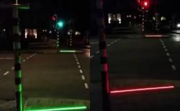 Facebook: instalan semáforos para los que caminan mirando el celular