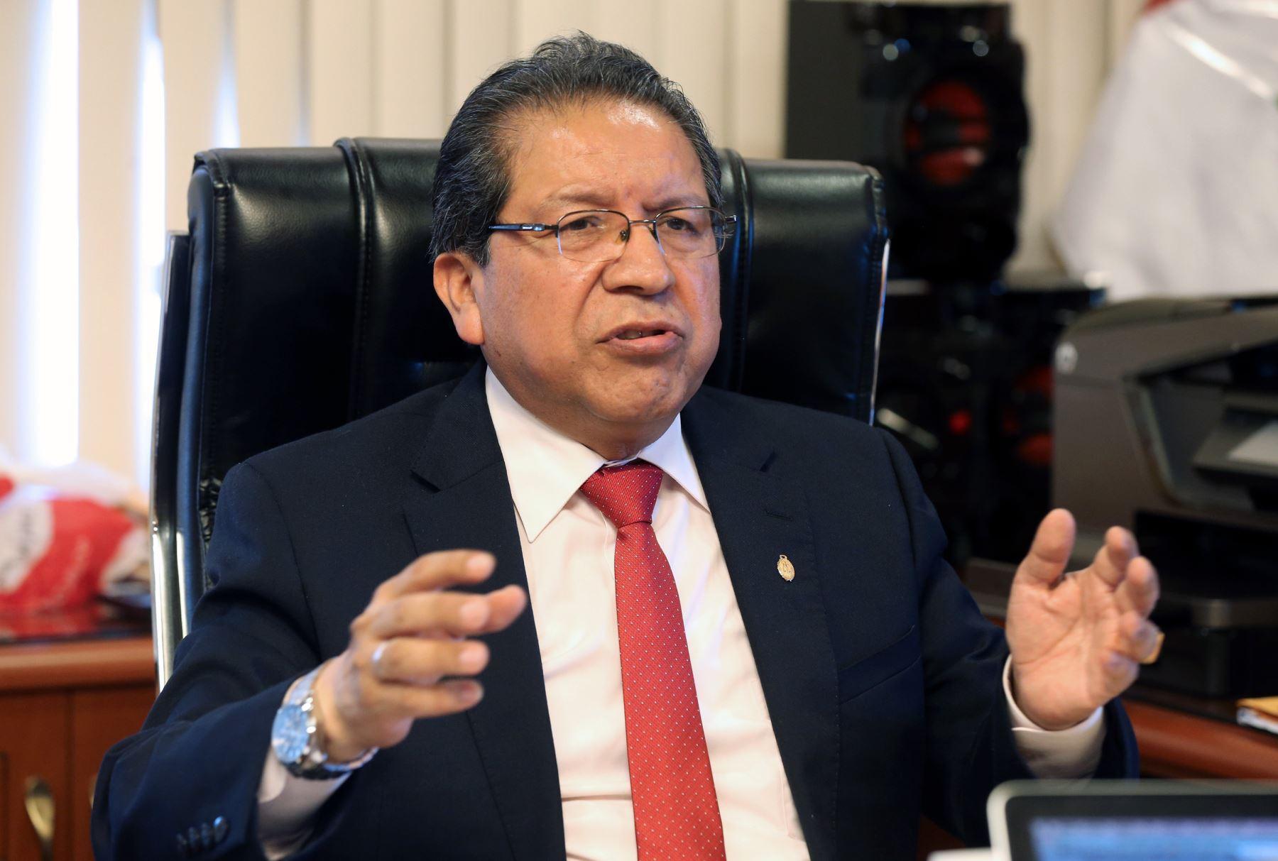 Fiscal de la Nación, Pablo Sánchez. Foto: Agencia Andina