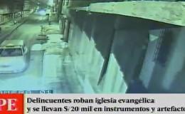 San Martín de Porres: delincuentes robaron S/ 50 mil de iglesia evangélica