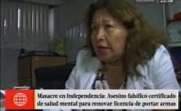 Certificado de salud mental de Eduardo Romero Naupay era falso