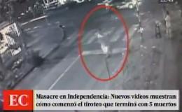 Nuevas imágenes del tiroteo en Independencia que dejó 5 muertos