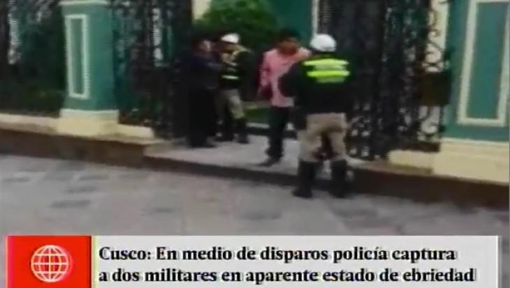 Cusco: capturan a militares que atacaron a balazos a agentes policiales