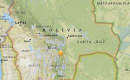 Sismo de 6,5 grados de magnitud remeció Bolivia