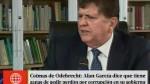 Alan García: A mí Odebrecht no me ofreció ningún s...