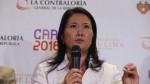 Keiko: Siempre damos la cara ante investigaciones sin fundamento - Noticias de odebrecht