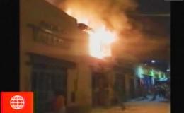El Hueco: gran incendio se registró a pocos metros del centro comercial