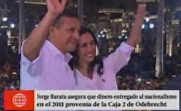 Barata: dinero entregado a Nadine Heredia provenía de la oficina de coimas