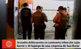 San Borja: delincuentes robaron en empresa cerca a Javier Prado