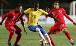 Perú fue goleado 3-0 por Brasil en su debut en el Sudamericano Sub 17