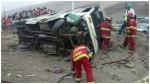 Panamericana Sur: la lista completa de los 22 heridos en accidente - Noticias de