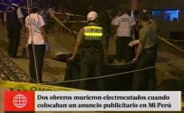 Mi Perú: dos obreros murieron electrocutados