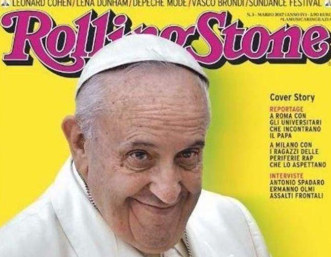 Papa Francisco en la Portada de los Rolling Stones. (Vía: Rolling Stones)