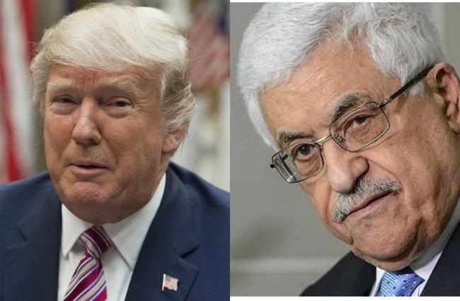 Donald Trump y Mahmud Abás (Vía: AFP)