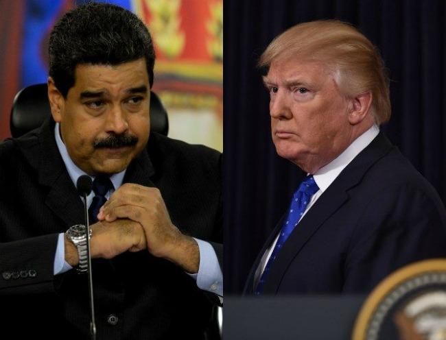 Nicolás Maduro y Donald Trump. (Vía: AFP)
