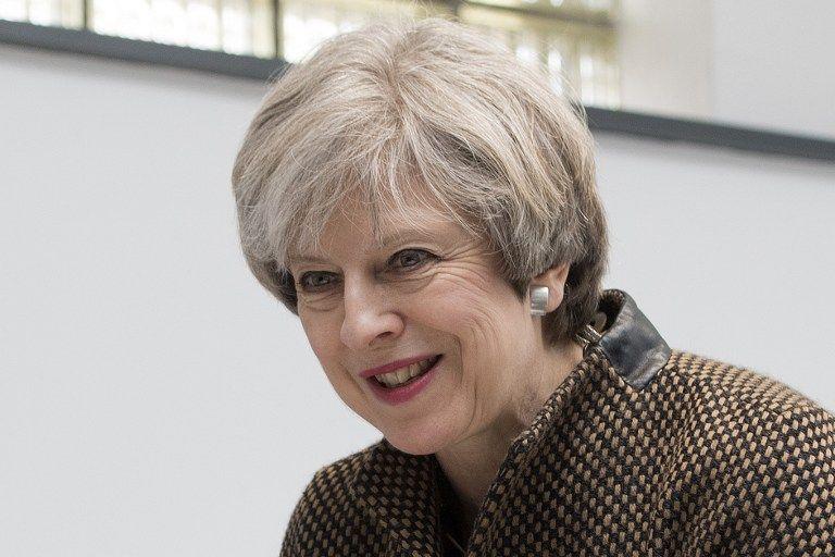 Theresa May, primera ministra británica. (Vía: AFP)