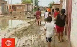 Piura: agua de inundación lleva empozada más de 15 días en AA.HH.