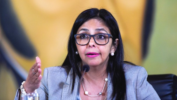 Delcy Rodríguez, canciller de Venezuela. Foto: AFP