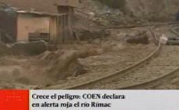 COEN desactiva alerta roja tras nuevo huaico en Santa Eulalia