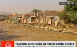 Puente Piedra: viviendas junto al río Chillón están a punto de colapsar
