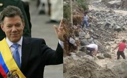 Colombia: Juan Manuel Santos ofreció ayuda a Perú tras los huaicos