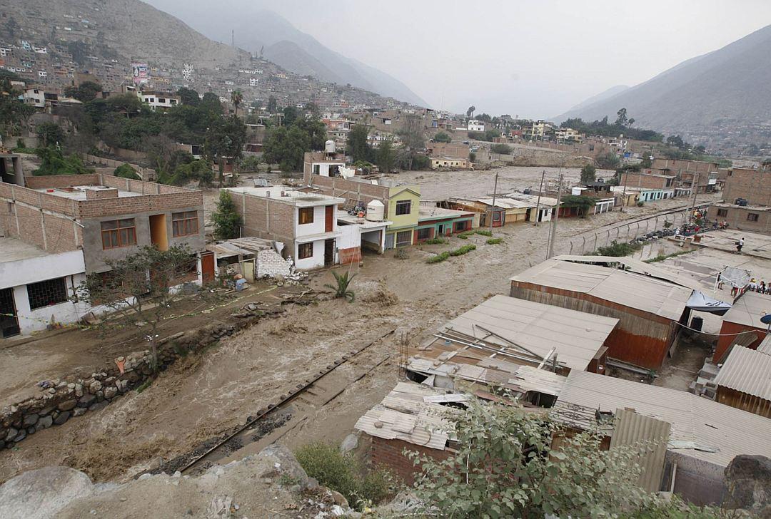 Huaicos en el país. Foto: Andina