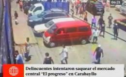 Carabayllo: unos 30 delincuentes intentaron saquear mercado El Progreso