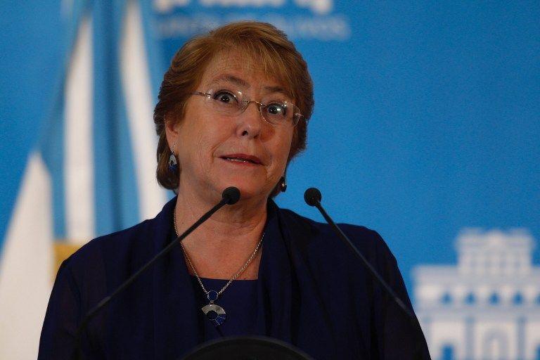 Michelle Bachelet, presidenta de Chile. (Vía: AFP)