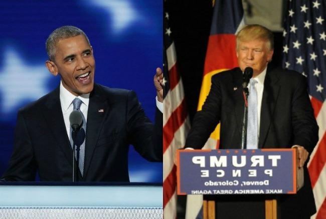 Barack Obama y Donald Trump. (Vía: AFP)
