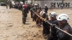 Huachipa: personas aisladas por huaicos son ayudados por la policía - Noticias de policía