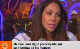 Melissa Loza contó el difícil momento que se vive en su natal Chimbote