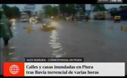 Piura amaneció inundado tras el retorno de intensas lluvias