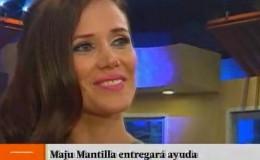 Maju Mantilla se emocionó al hablar de ayuda a los damnificados