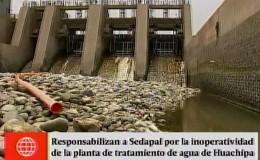 ¿Por qué no funciona la planta de tratamiento de agua de Huachipa?