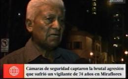 Miraflores: vigilante de 74 años fue víctima de agresión en edificio