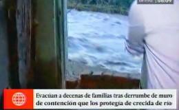 Chosica: casa terminó al borde del río Rímac tras desborde