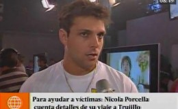Nicola Porcella contó detalles de su viaje a Trujillo