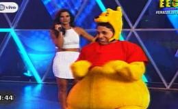 EEG: Hugo García apareció vestido del adorable 'Winnie Pooh' y cautivó a fans