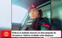 Jicamarca: hallan cadáver de joven policía con 8 disparos en el cuerpo