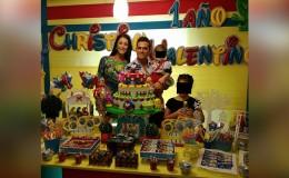 Christian Domínguez y Karla Tarazona celebraron juntos el cumpleaños de su hijo