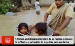 Catacaos: pobladores usaron ollas para rescatar a niños y mascotas de inundación