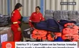 América TV y Canal N junto con la FAP llevan tu ayuda a damnificados
