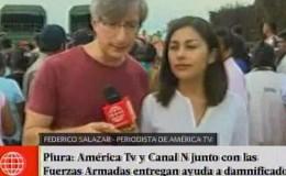 Piura: América TV y Canal N junto con FF.AA. entregan tu ayuda a damnificados