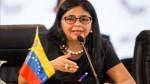 """Venezuela: canciller Rodríguez calificó de """"injerencista"""" el comunicado peruano - Noticias de delcy rodriguez"""