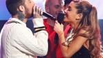 Ariana Grande protagonizó tierno beso con rapero Mac Miller en pleno escenario - Noticias de conciertos 2013