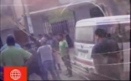 Violento enfrentamiento entre colectiveros informales