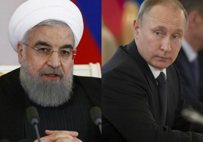 Hasan Rohaní y Vladimir Putin