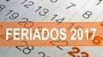 Feriados 2017: estos son los 13 días no laborables de enero a diciembre - Noticias de fiestas patrias 2017