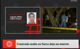 Surco: un muerto y un herido dejó una balacera